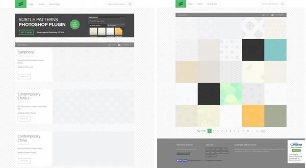 背景パターンの素材サイト