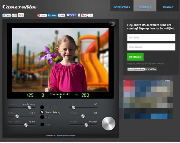 撮影シミュレーターアプリ