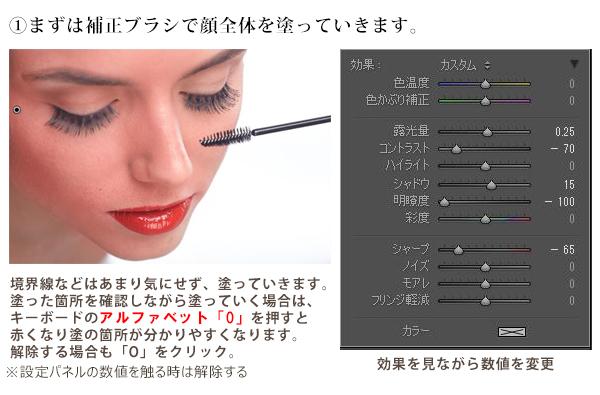 ステップ1:顔全体を補正する